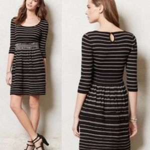Anthrpologie Knitted & Knotted Elodie Striped Dres